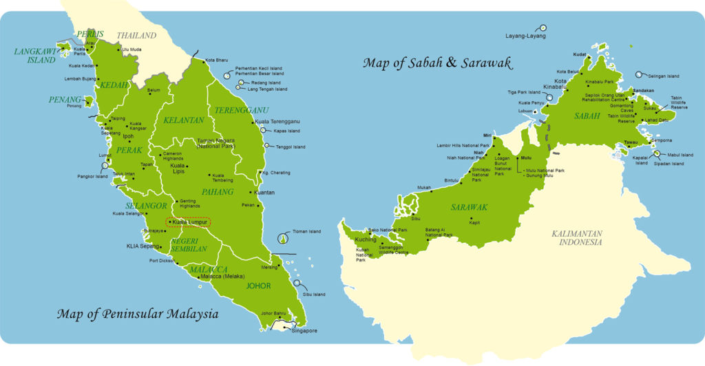 malaysia consists of two parts